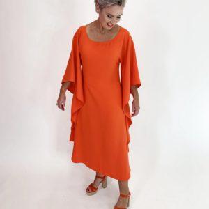 Butterfly Dress - Tangerine - C.Reed