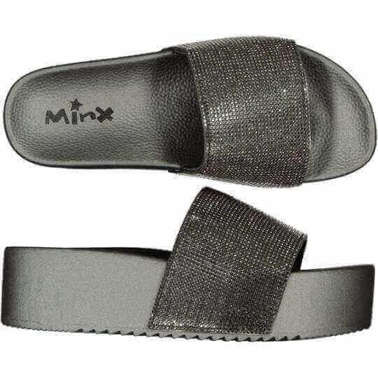 Platform Glitter Slide - Minx