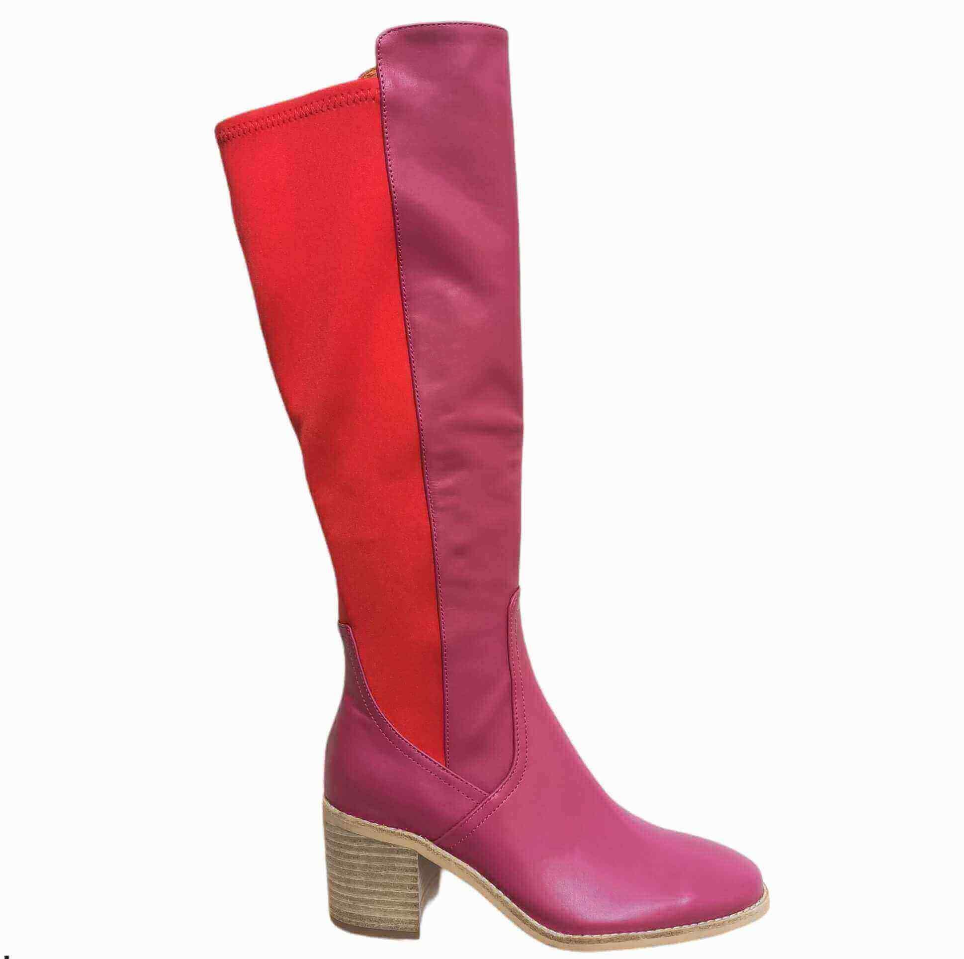 Awaken Boot - Hot Pink/Red - Minx